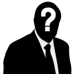 silhouette with a question mark vector illusration