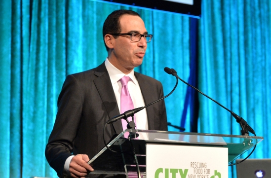 NEW YORK, NY - APRIL 24: Heather Mnuchin and Steven Mnuchin speak onstage City Harvest: An Event Of Practical Magic on April 24, 2014 in New York City. (Photo by Andrew H. Walker/Getty Images for City Harvest)